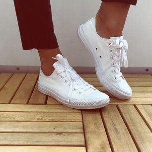 Vita låga converse, knappt använda! 🌟