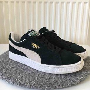 Puma suede (mocka) sneakers i storlek 37. Skorna är i superfint skick och de är väldigt sköna. Säljer pga för liten storlek.  Nypris ; 699kr