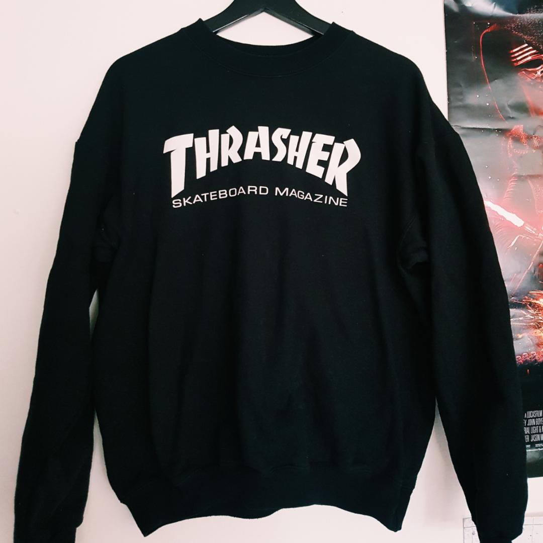 Knappt använd thrasher tröja. Köpare står för frakt 🌹. Huvtröjor & Träningströjor.
