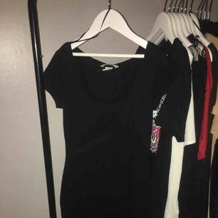 Svart t-shirt klänning från h&m