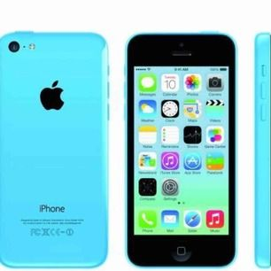 iPhone 5c, Färg: Blå. Använd i 9 månader. Men köpte ny. Fungerar utan problem