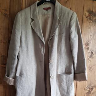 100% linen long line blazer