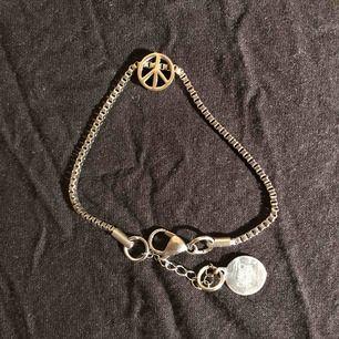 Armband med fred symbol   Peace  Fred  Berlock