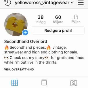 Gillar du streetwear och vintage! Följ mig på Instagram, där svarar jag mer regelbundet och jag lägger ut mer saker! @yellowcross_vintagewear