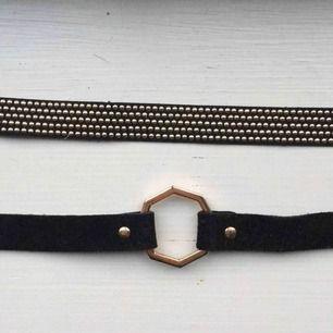 🌹Choker halsband🌹 Två matchade halsband från Zara, säljer styckvis för 50kr eller 80kr för båda ❤️  Köparen står för frakt