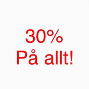 30% på alla annonser! ✨