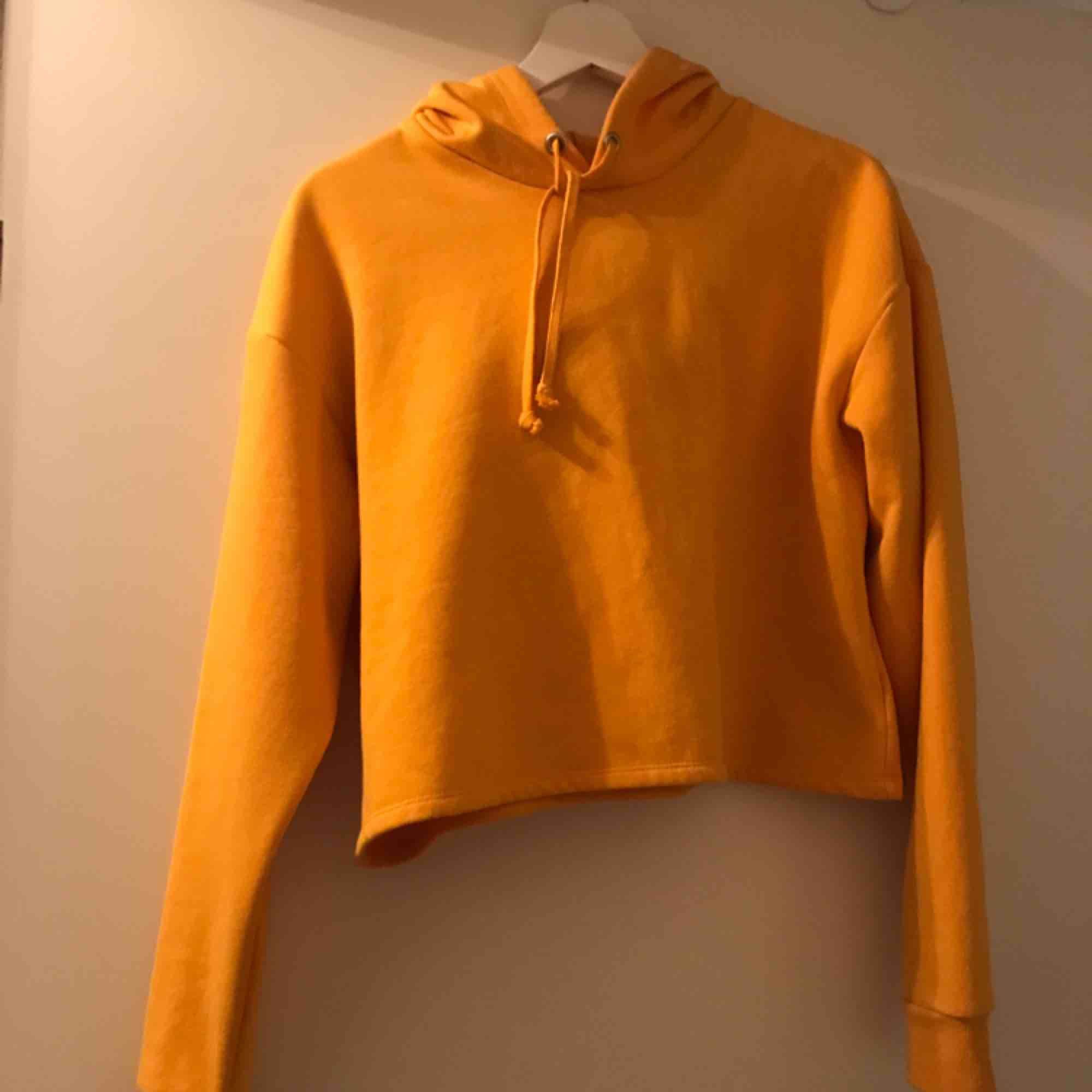 Croppad hoodie, nästan aldrig använd, mjukt tyg inuti, Från HM, jättemysig:) frakt tillkommer. Tröjor & Koftor.