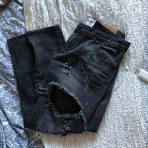 One teaspoon jeans svarta trashed freebird strl 27