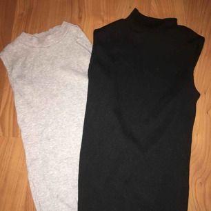 oanvända två kortärmade stickade tröjor med krage 50kr för båda plus frakt