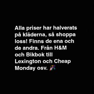 Massa grejer till billiga pengar!  Finns smått och gott, storlekarna kan variera från XS till XL och allt däremellan🙆   Så passa på för allt ska bort!!🎉
