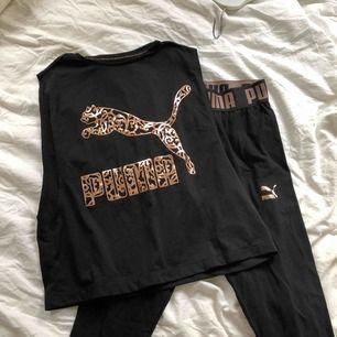 Säljer dessa träningstights och linne ifrån Kenzas första kollektion med Puma. Kan säljas separat med, men säljer helst tillsammans.