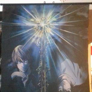 Death note / anime tyg flagga / tavla.  Krokar att hänga upp med.