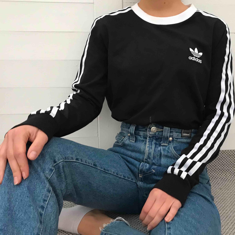Äkta Adidas tröja i storlek S, men passar även utmärkt på mig som vanligtvis har XS. Har använts endast en gång, så kvalitén är så gott som ny! Köparen står för frakt ✨ ‼️ ANTAGLIGEN SÅLD ‼️. Huvtröjor & Träningströjor.