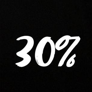 30% på allt hela denna helg och nästa vecka!!
