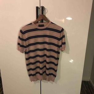 Prada Striped Wool Silk T-Shirt Pink  Köpt på Trés bien, aldrig använd! Nypris: 2200kr på rea (60%). Storlek 48, men väldigt liten i modellen. Skulle snarare säga att det är en small/x-small!