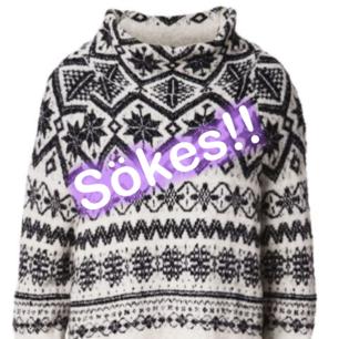 Hej! Jag letar efter denna tröja från H&M i storleken XS eller S.  Den är från jul kollektionen 2015  Kan tänka mig att betala mellan 80 och 150 för den (beroende på hur använd den ser ut)