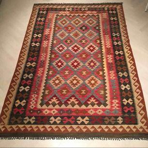 Kelim Afghan Old Style matta 144x212 cm. Ca 1 år gammal, Nypris 2400kr