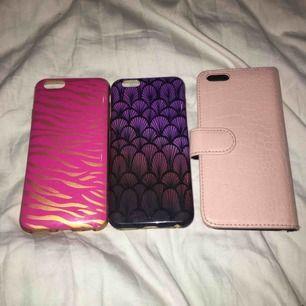 Tre-pack mobilskal, iPhone 6/6s. Köparen står för frakten. För mer info eller bilder skriv i chatten.