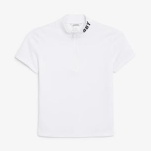 T-shirt med dragkedja från Monki! Beställde den förra veckan och tog av prislappen innan jag insåg att den inte riktigt var min stil, så den är i nyskick! 🌼    Frakt tillkommer med 20 kr!
