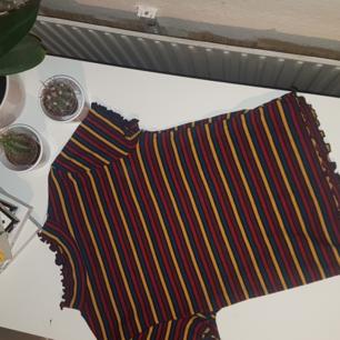 Tight randig tröja! Den är använd en eller två gånger, men i bra skick 🌼  Frakt tillkommer med 20 kr!