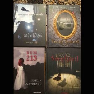Fyra böcker från Ingelin Angerborn i nyskick. Böckerna är en perfekt julklapp och går alltid hem hos barnen. Kostar nypris 200kr/st och jag säljer de alla fyra tillsammans.