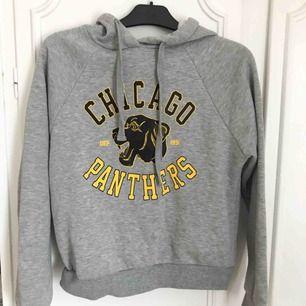 Grå hoodie från Gina Tricot i mycket bra skick! Fint tryck på och perfekt i storlek, inte för oversized men inte heller för tight!✨