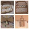 En håndtaske fra Louis Vuitton i Murakami Monogram Canvas. Posen lukkes med tre magnetknapper. Klassisk hængelås i guld med teksten LV og Louis Vuitton Paris. Nitter rundt hele posen og håndtag. Indersiden har lysforing og lomme med LV lynlås og en lille