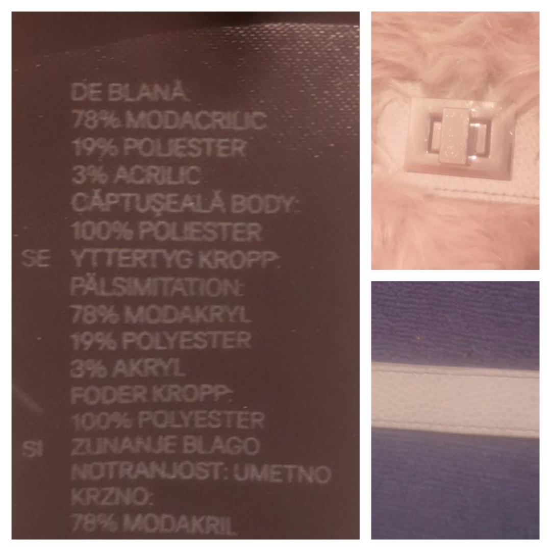 f029bee6c30 Avtagbar Helt ny beige gullig och fluffig axelremsväska och clutch i mjuk  pälsimitation från H&M. Avtagbar