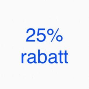 25% på allt!