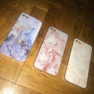 iPhone 7/8 skal i silikon. Marmor liknande! 50kr/styck frakt tillkommer
