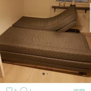 Sängen är 180 på 200.  Finns i järfälla stockholm Säljs billigt  Bud