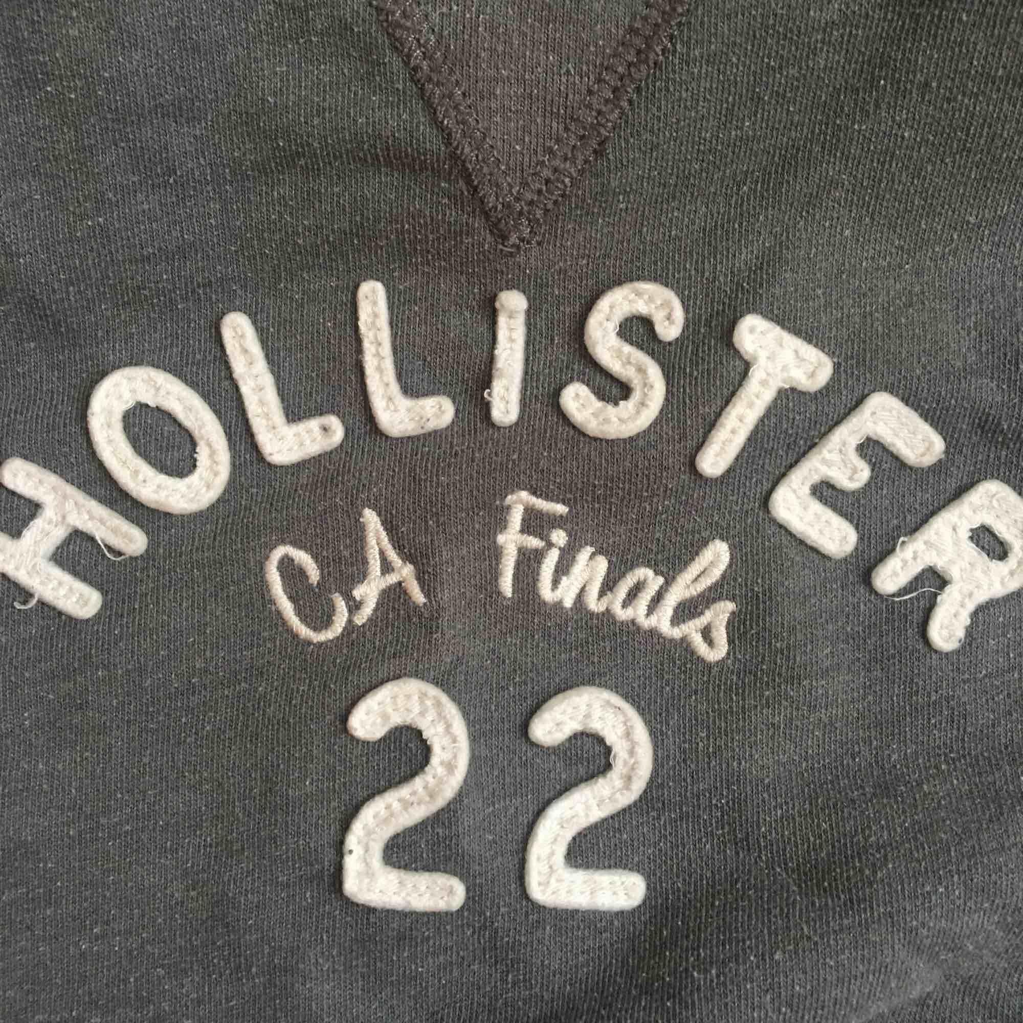 Grå collegetröja från Hollister med tryck. Frakt står köpare för!:). Tröjor & Koftor.