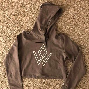 Helt ny, oanvänd grå cropped hoodie från workout empire.
