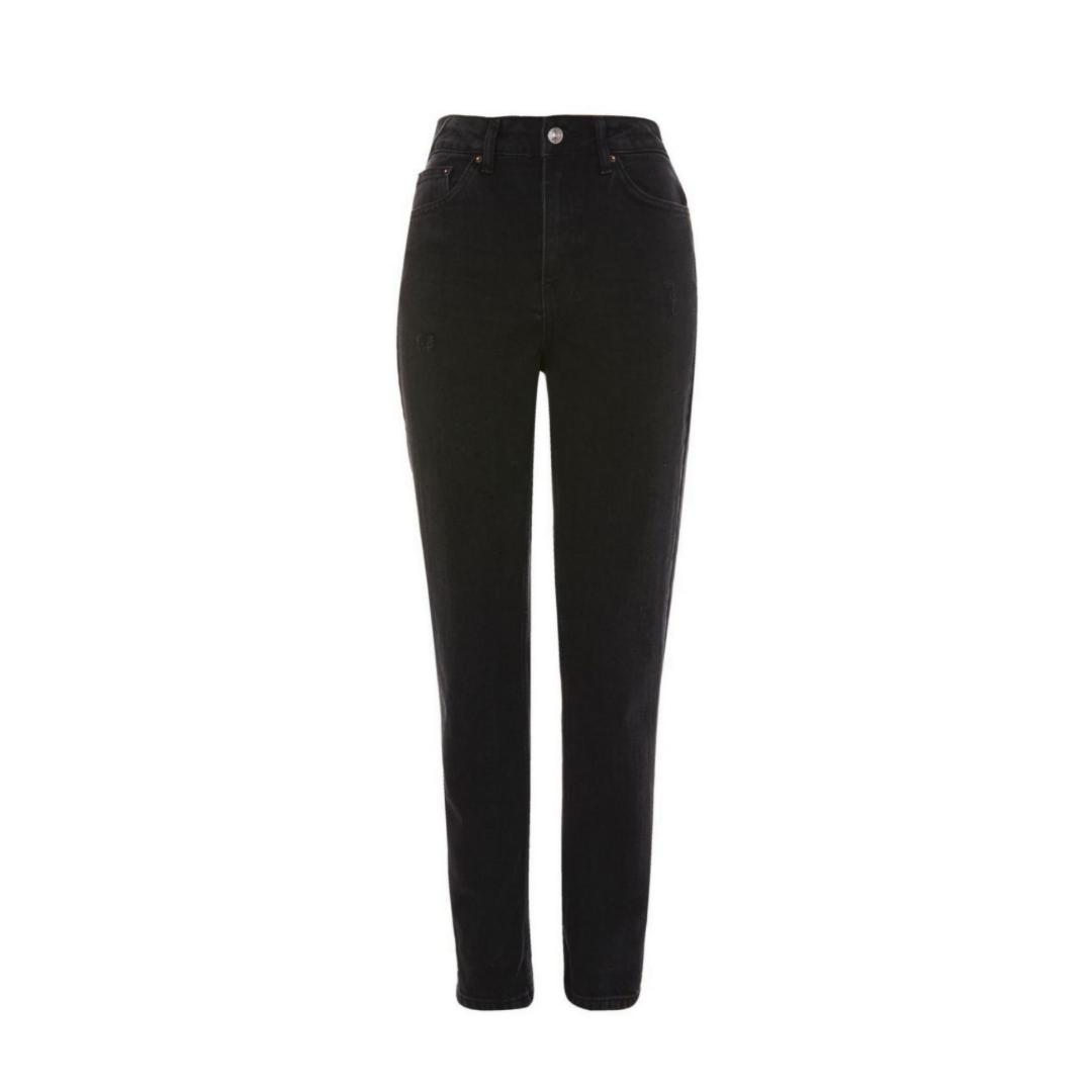Topshop Moto MOM black jeans Condition: Excellent worn only a few times Size: W25 , L30 (Waist 64cm, length 76cm). Jeans & Byxor.