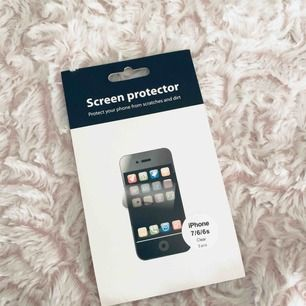 Säljer skärmskydd till iphone 7/6/6s , säljes pga att jag har en ny telefon och inte behöver dessa längre. Finns två stycken kvar i förpackningen då jag har använt ett & frakten är 9kr.