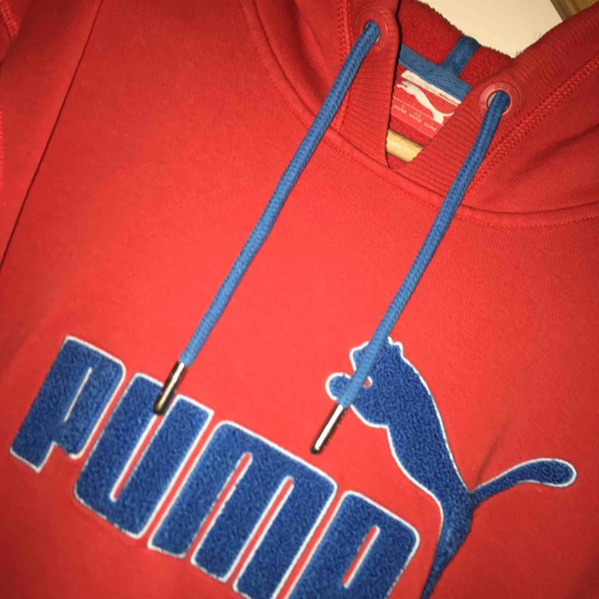 Jättefin Puma hoodie, S, frakt ca 60 kr.. Huvtröjor & Träningströjor.
