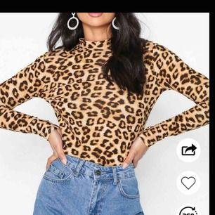 Leopard polo tröja ny.