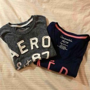 50kr/styck. Två T-shirts från det amerikanska märket Aeropostal. Säljer på grund av för små. De är tighta i passformen men sköna. Nästan aldrig använda. Skriv för fler bilder och eventuellt förhandling av pris. Köparen står för frakt☺️