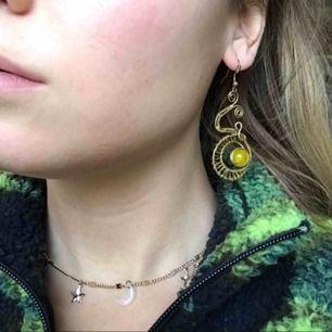 Handgjorda örhängen, använder för sällan tyvärr