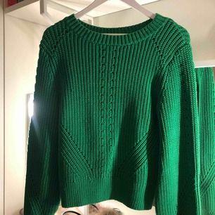 Grön stickad tröja från hm
