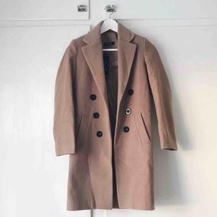 Jättesnygg kamelfärgad kappa från Boohoo i Petite storlek 34. Aldrig använd, för liten för mig därför jag säljer den. Frakten är inkluderad i priset. Betalning med swish