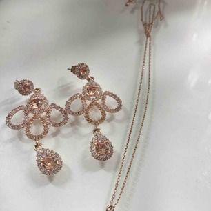 Lily & Rose örhängen och halsband. Nypris är 800kr! Frakt ingår i priset.