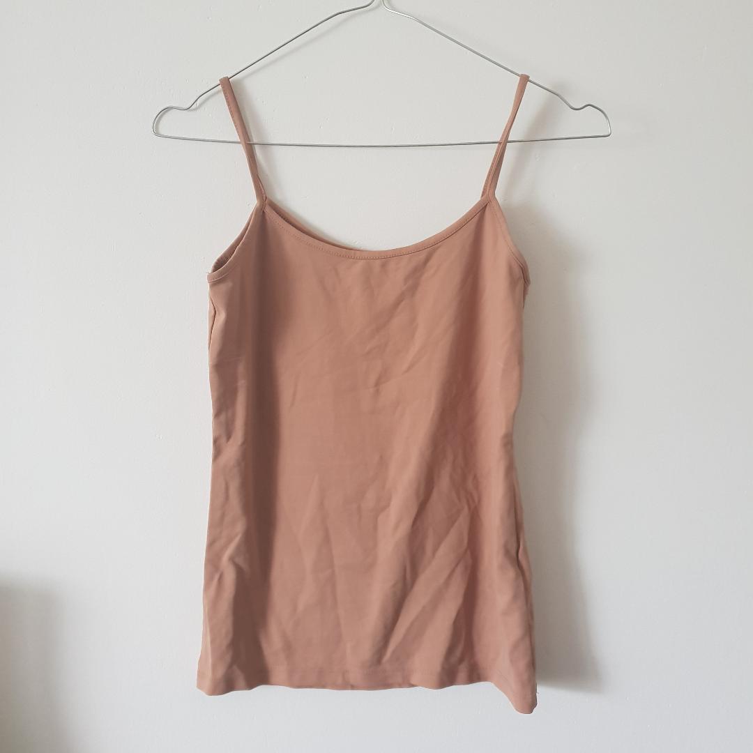 Basic plagg linne från Zara. Fin nude färg . Toppar.