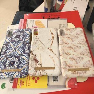 3 nya skal från ideal of sweden Ett från Janni Olssons kollektion  Passar Iphone X. Ett skal 100 alla tre 350