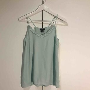 Supergulligt mintgrönt linne. Aldrig använt.  Frakt tillkommer!