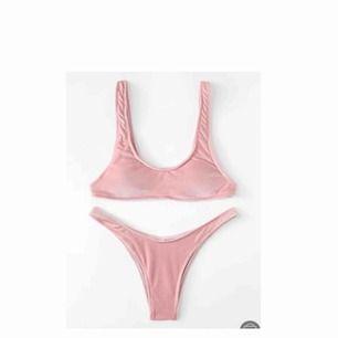 Skitsnygg helt ny velvet bikini i ljusrosa💘