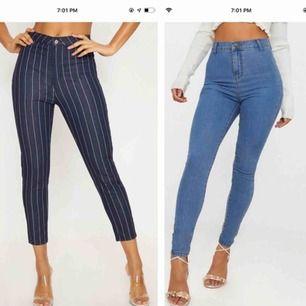 Nya jeans från PrettyLittleThing, oanvänt. Säljer dem för att de inte är min storlek.  Båda är skinny och högmidja