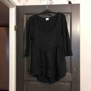 Svart peplumtopp i nyskick. Aldrig använd, endast provad. Köparen betalar frakten (ca 45kr) eller hämtar upp kläderna i Skärholmen (Bredäng). Kan även mötas upp i Skärholmen.