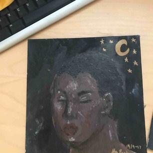 tavla målad i akryl på målarplatta, målad av mig! köparen står för frakt som går på 10kr! swishbetalning