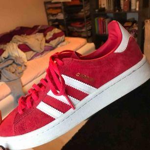 Röda Adidas skor i nyskick, bara använda två gånger. Super sköna men kommer dock tyvärr aldrig till användning.